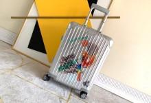 日默瓦铝镁合金行李箱 Rimowa Original 20寸登机箱 银色涂鸦款-日默瓦拉杆箱