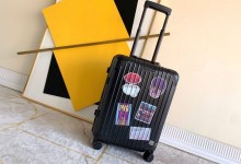 Rimowa铝镁合金行李箱 Rimowa Original 20寸登机箱 黑色涂鸦款-日默瓦拉杆箱