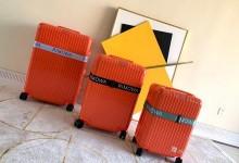 日默瓦拉杆箱2019新款超轻pc拉链款行李箱 橙色-日默瓦拉杆箱