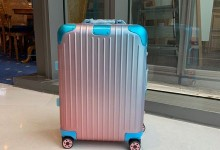 RIMOWA x Alex Israel渐变色限量联名系列拉杆箱 21寸登机箱-日默瓦拉杆箱