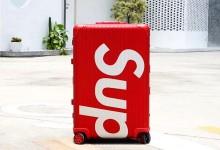 Rimowa×Supreme联名款行李箱 高仿Supreme铝镁合金托运箱 30寸-日默瓦拉杆箱
