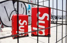 Supreme x RIMOWA联名行李箱 22寸最高版本铝镁合金拉杆箱-日默瓦拉杆箱