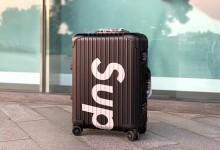 Supreme x RIMOWA联名行李箱 20寸最高版本铝镁合金登机箱-日默瓦拉杆箱