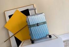 2020新款Dior x Rimowa联名行礼箱 20寸铝镁合金登机箱 蓝色-日默瓦拉杆箱